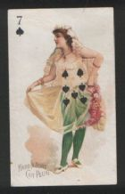 Fascinating 1890 cigarette card tobacco card  playing card.